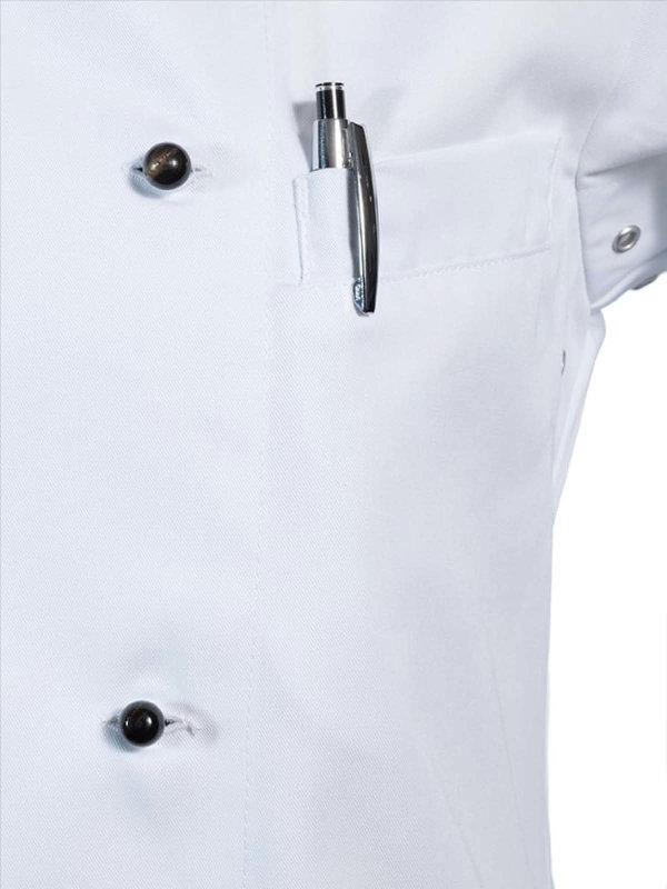 Kugelknopf aus Wasserbüffelbein, white