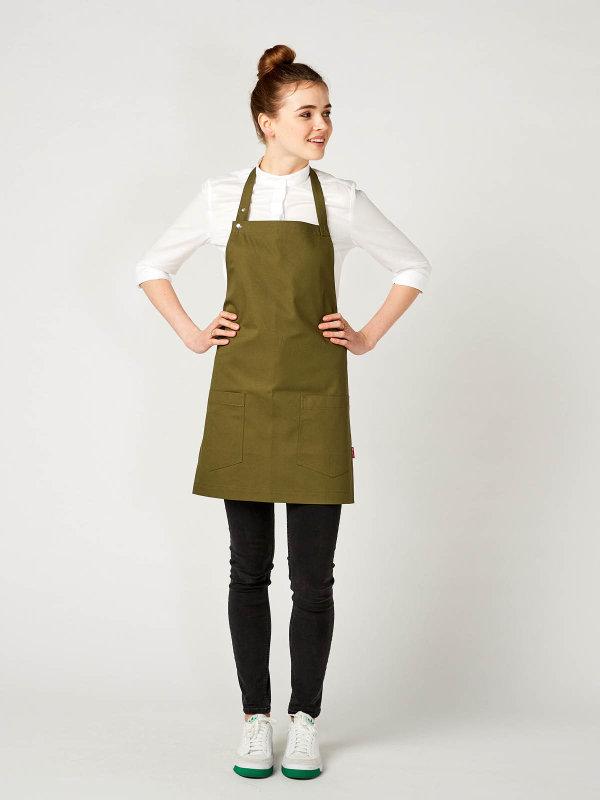 CO short bib apron, TUNA