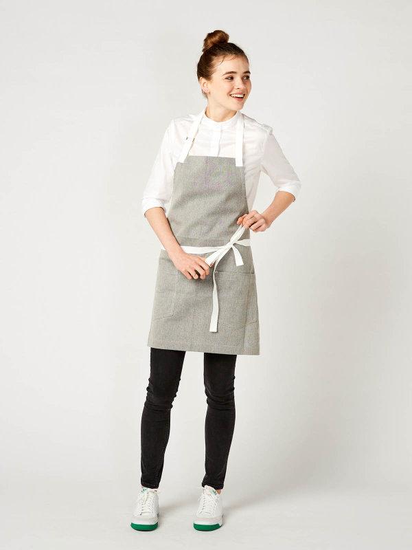 short bib apron, SALZ&PFEFFER