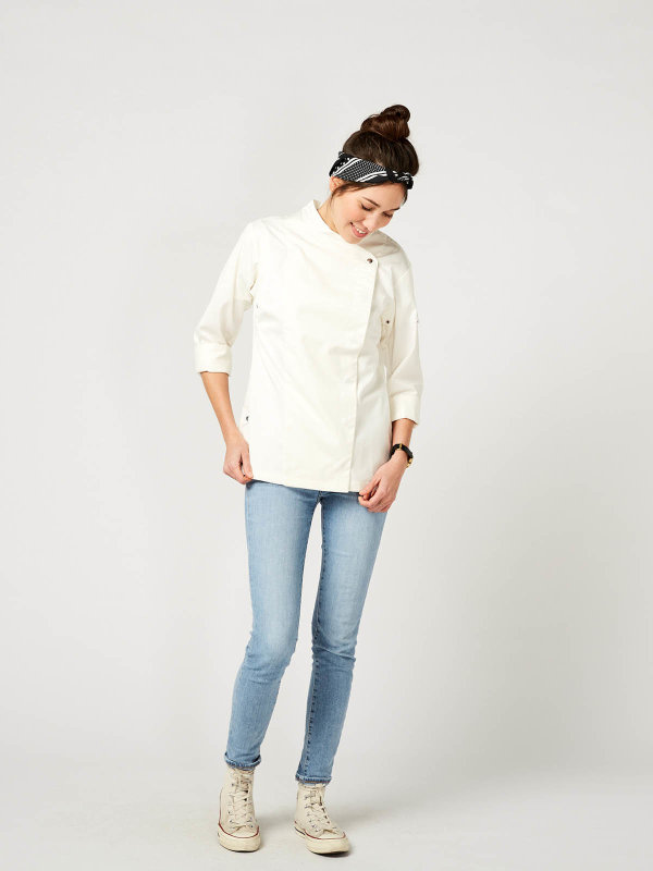 womens long sleeve chefs jacket, JAFFA