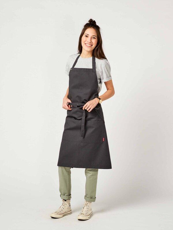 CO long bib apron, PIKE, anthracite