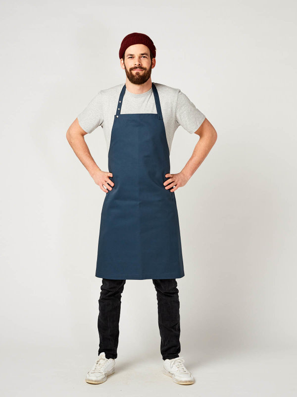 CO long bib apron, OSCAR, poppy