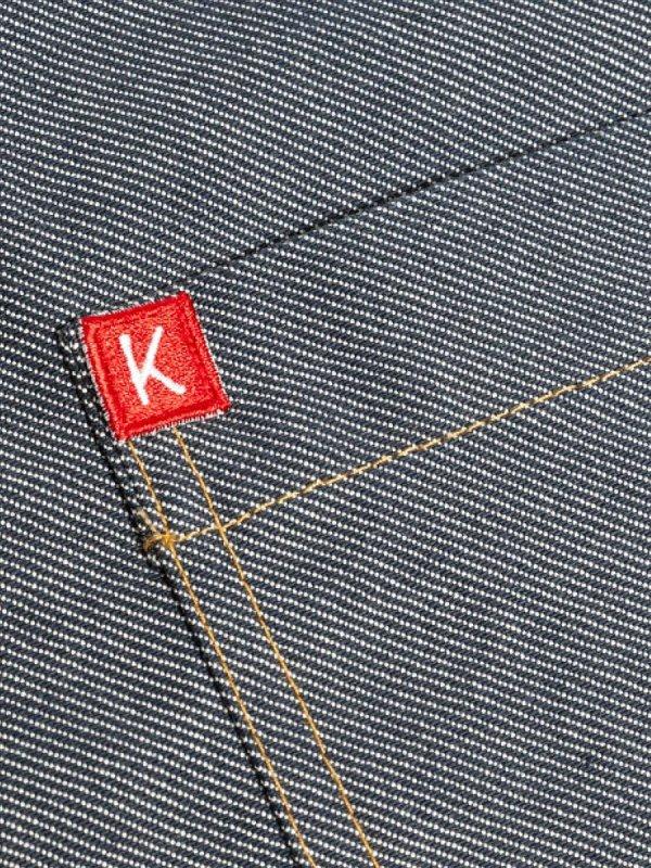 long denim bib apron, KOPENHAGEN grey