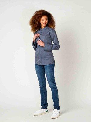 CO Chefs jacket long sleeve RAY 2.0, denim look M