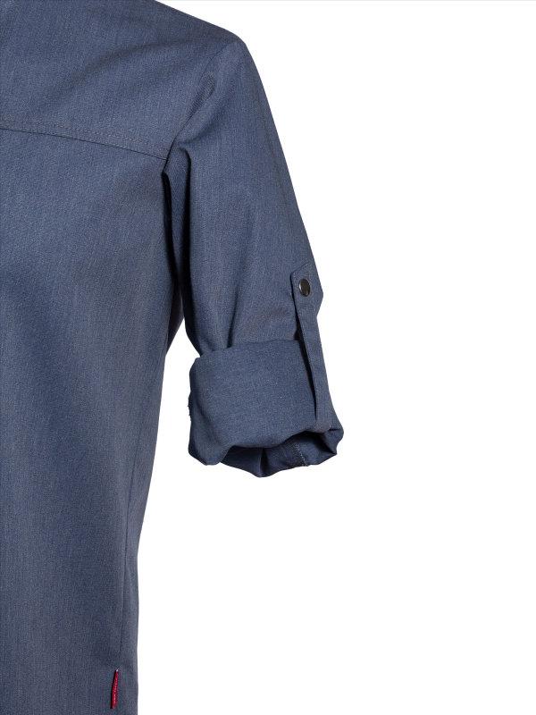 CO Chefs jacket long sleeve RAY 2.0, denim look L