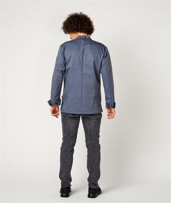 CO Chefs jacket long sleeve, RAY 2.0 denim look 2XL