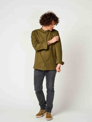 CO Chefs jacket long sleeve RAY, olive M