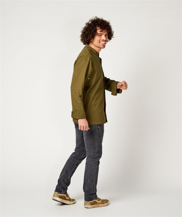 CO Chefs jacket long sleeve RAY, olive L