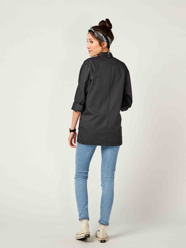 CO Chefs jacket long sleeve RAY 2.0, anthracite M