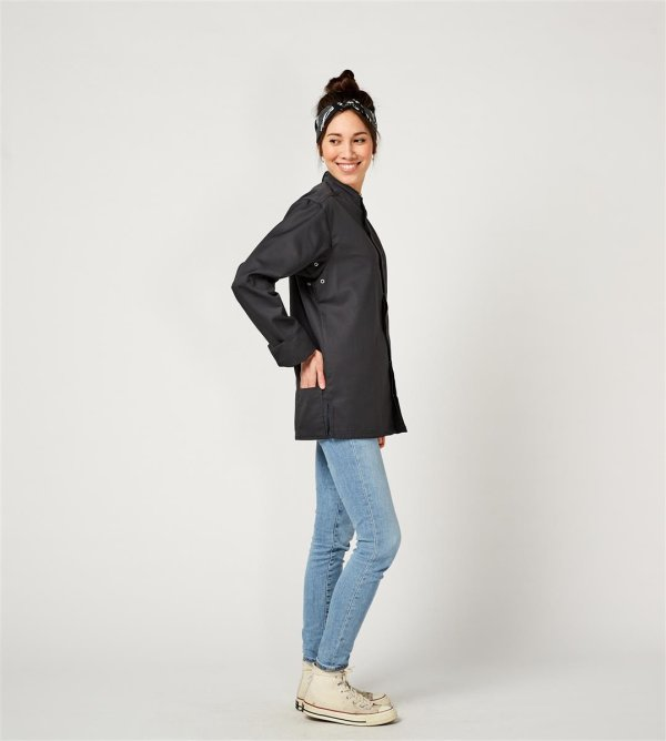 CO Chefs jacket long sleeve RAY 2.0, anthracite 4XL