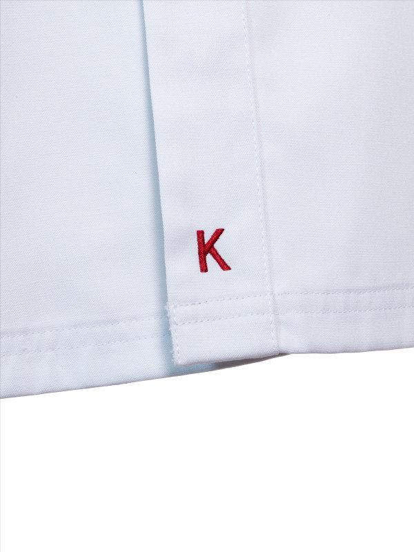 CO Kochjacke kurzarm, OYSTER white L