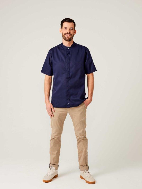 CO short sleeve chefs jacket OYSTER, navy 2XL