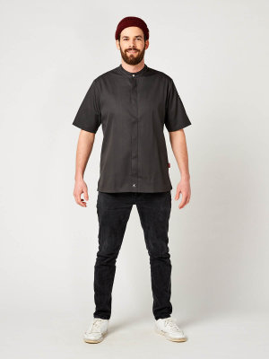 CO short sleeve chefs jacket OYSTER, bream M