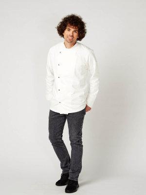 long sleeve chefs jacket, RIVOLI white M