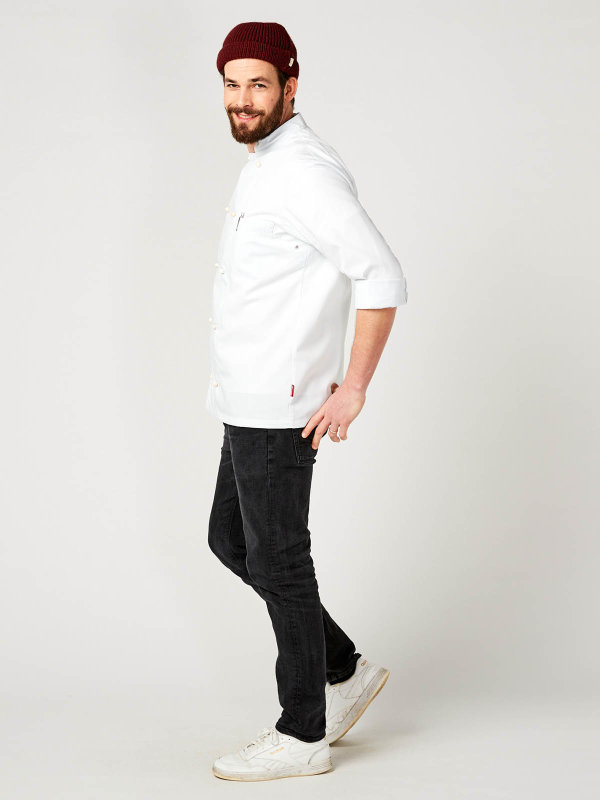 Kochjacke langarm, RUBANO white M