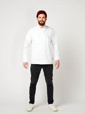 long sleeve chefs jacket, RUBANO white M