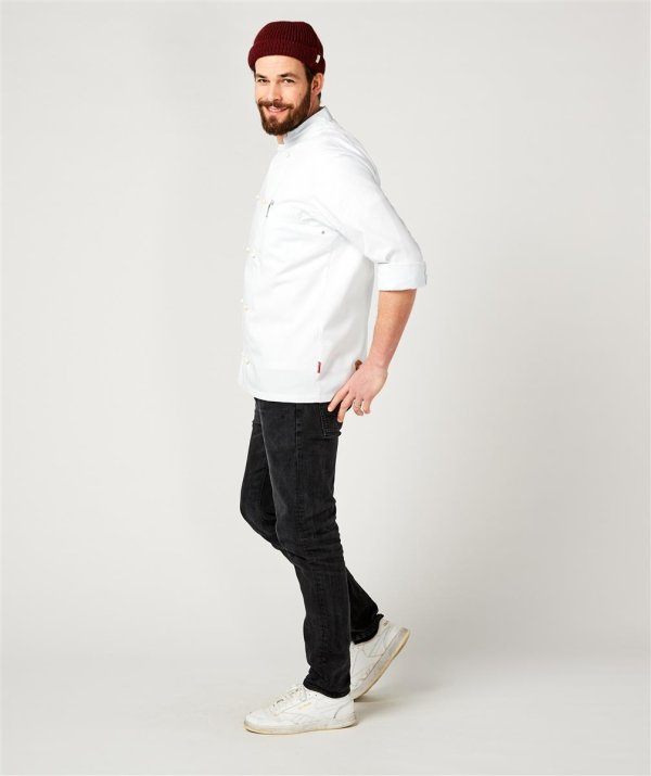 Kochjacke langarm, RUBANO white 4XL