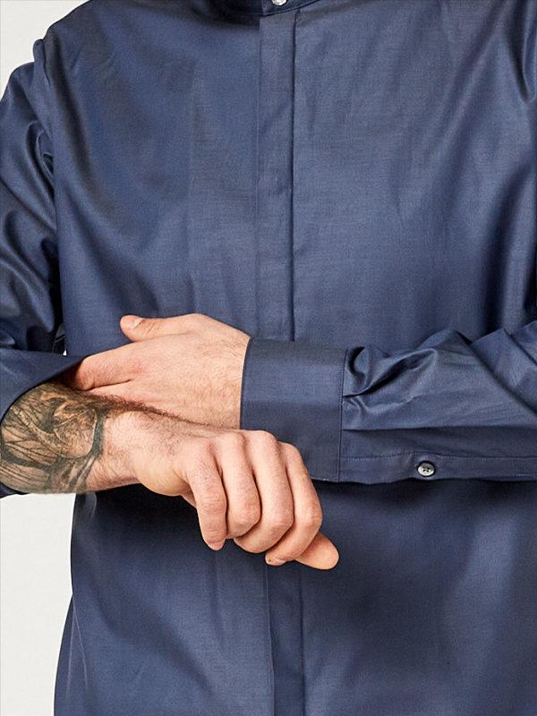 shirt BEVER, greyblue S