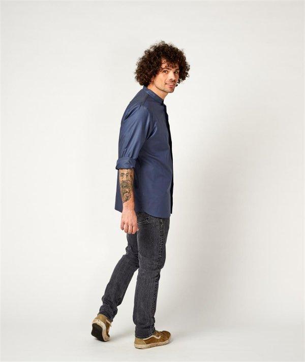 shirt BEVER, greyblue 2XL