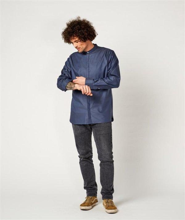 shirt BEVER, greyblue 4XL
