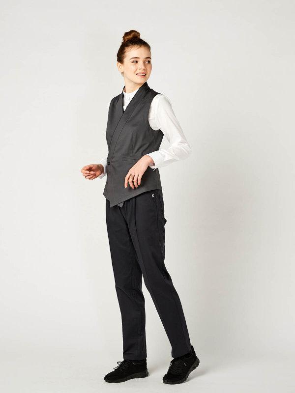 womens waistcoat, GERA anthracite 4XL