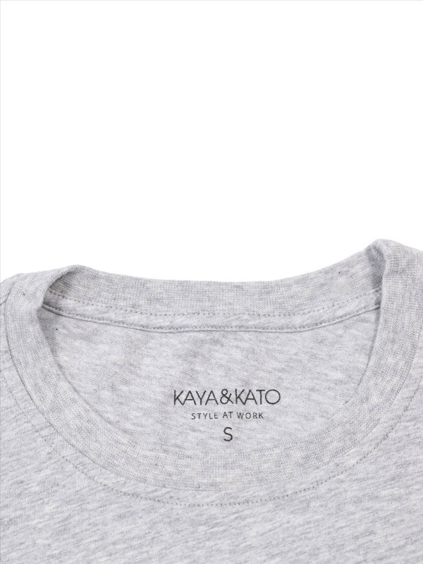 T-Shirt Unisex, PORTO grey melange L