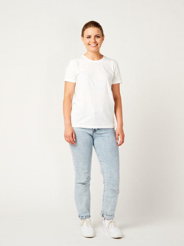 T-Shirt Damen, PISA white L