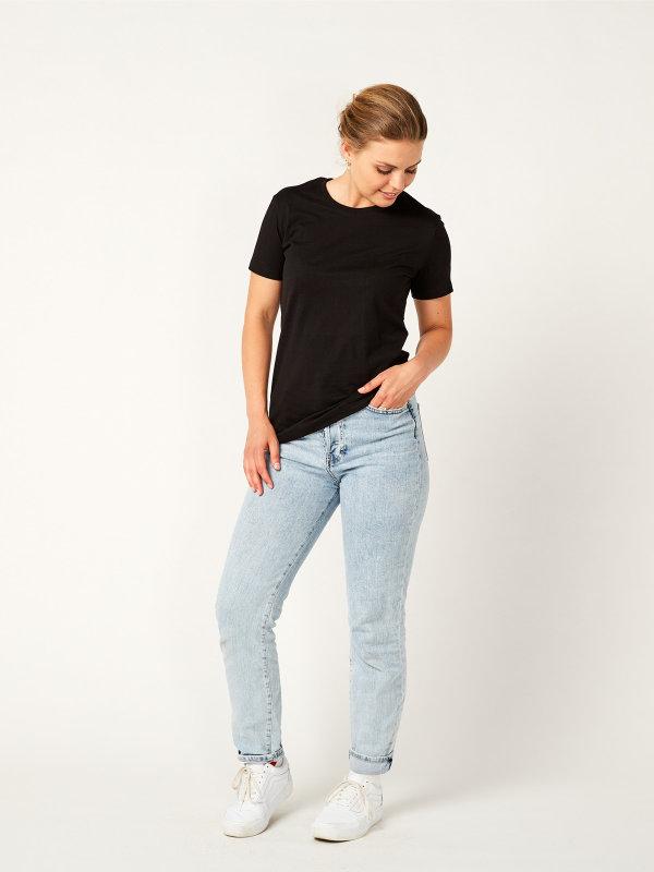 T-Shirt Damen, PISA black XS