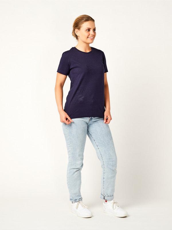 T-Shirt Damen, PISA navy L