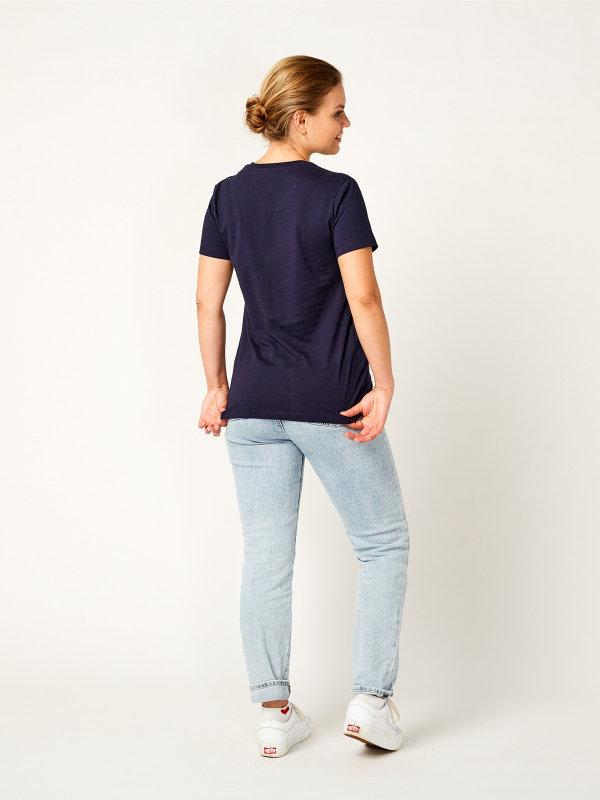 T-shirt ladies, PISA navy 3XL