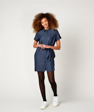 shirt dress, JENA denim blue M